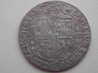 Poland Ort 1623 Zygmunt Iii Waza 1587 - 1632 Rare Silver photo
