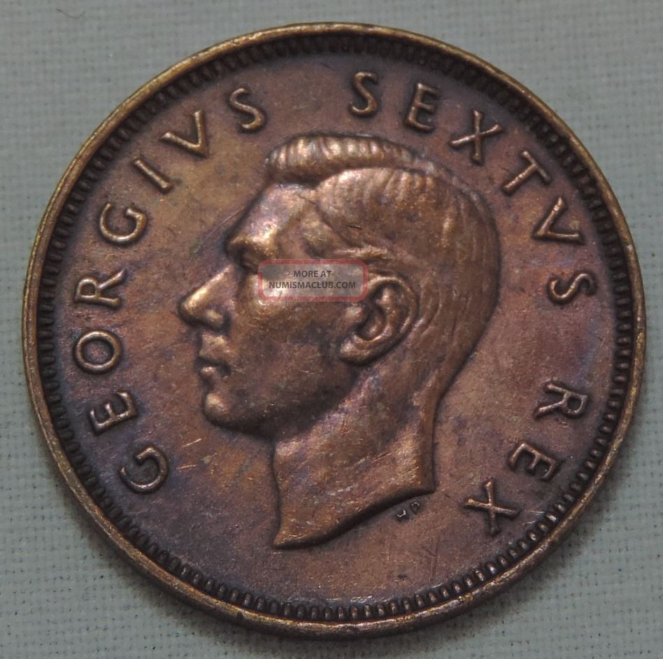 South Africa 1 4 Penny 1952 Km 32 2 Bronze 161