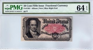 Fr.  1381 50 Cent Fifth Issue Fractional