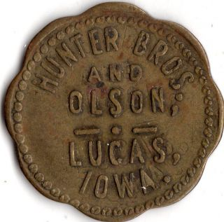 Lucas Iowa Hunter Brothers And Olson Merchant Good For Trade Token photo