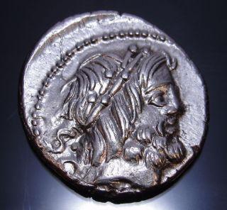 Jupiter And Juno Sospita With King Cobra Roman Republic Coin Ex Clain.  Ms photo