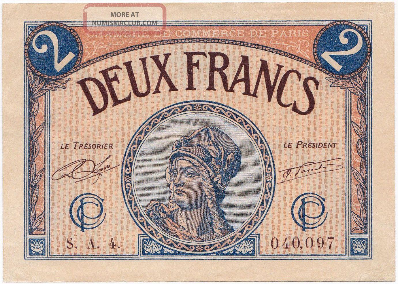 France 2 francs 1919 1922 xf chambre de commerce de paris for Chambre de commmerce