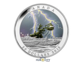 2015 $20 Weather Phenomenon: Summer Storm Silver Coin photo