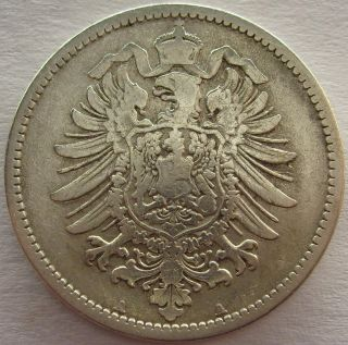 Old Antique Rare Germany 1 Mark 1875 A Berlin Silver German Empire (ind46) photo