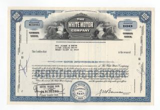 White Motor Company Stock Certificate photo