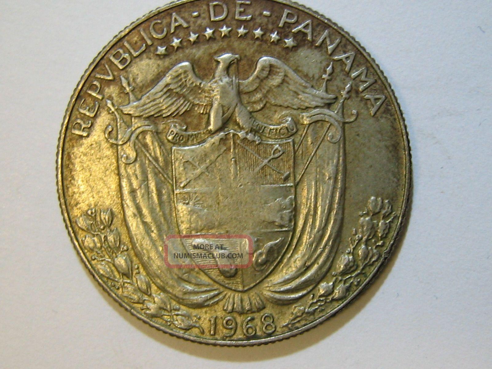 1968 Panama Medio Balboa Silver Coin