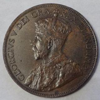 1920 Canada,  Large Cent,  George V,  Sharp Details photo