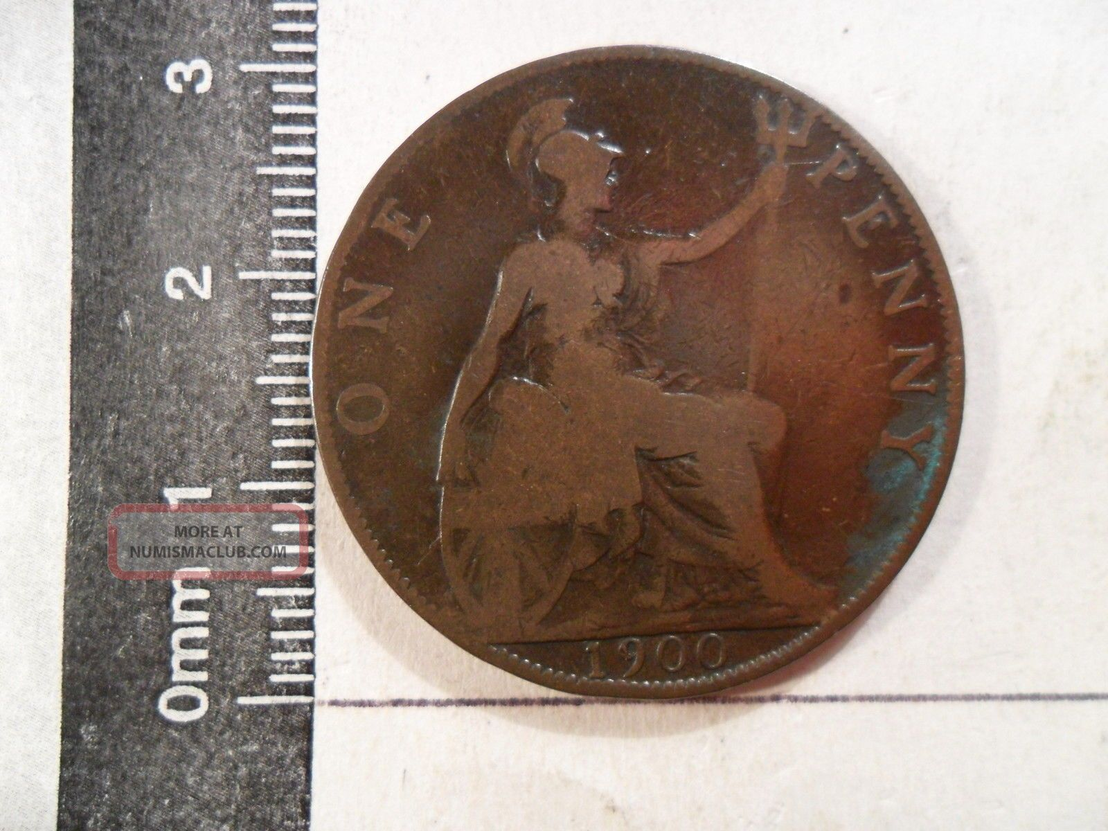 1900 1 Penny Coin Uk Domestic