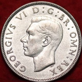 1943 Great Britain Florin Silver Foreign Coin S/h photo