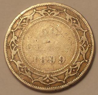 1899 Newfoundland 50 Cents Coin (92.  5 Silver) - Queen Victoria photo
