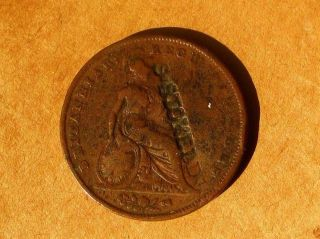 Great Britain 1841 Copper 1 Penny Coin Counterstamped