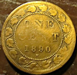 1890 - H Canada Large Penny Heaton Decent Cond. , photo