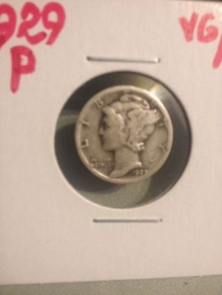 1929 P U.  S.  Mercury Dime 90 Silver photo