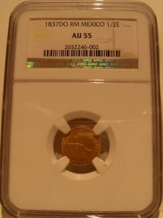 Mexico 1837 Do Rm Gold 1/2 Escudo Ngc Au - 55 Durango photo