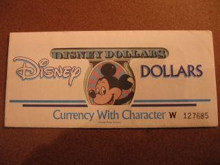 1989 One Dollar - Disney Dollar Mickey ' D ' Series - 10 Sequential Bills - photo