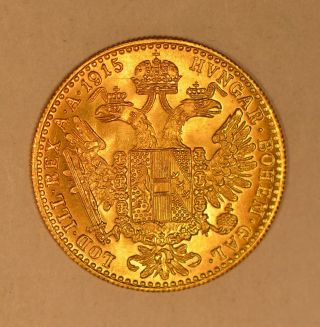1915 Austria Ducat Gold Coin Restrike For Franz Joseph I photo