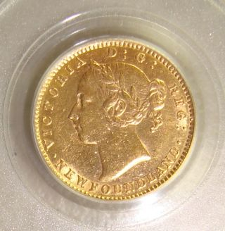 1882 - H Newfoundland,  Canada Gold $2 Pcgs Au55 photo