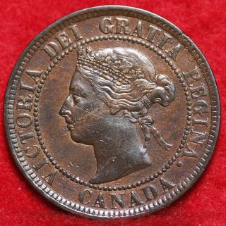 1884 Canada One Cent Foreign Coin S/h photo