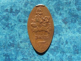 Disney Chip And Dale Disneyland Resort Copper Elongated Penny Pressed Smashed 6t photo