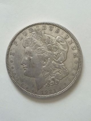 1921 - D $1 Morgan Silver Dollar Coin First Class. photo