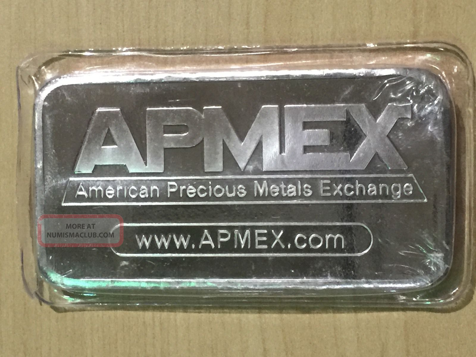 10 Troy Ounce 999 Fine Silver Apmex Bar