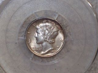 1934 Ms 64 Uncirculated Mercury Dime photo