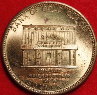 1949 Bank Of Gold Gulch Sovenir Token photo