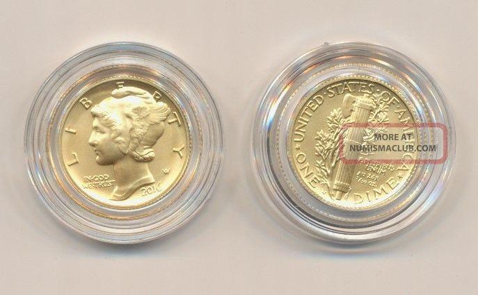 2016 W Mercury Dime Centennial 1 10 Gold Ngc Sp70 Early