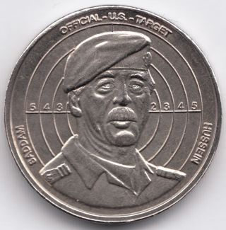 Commemorative Token,  Saddam Hussein's Legacy,  Uncirculated,  27 Mm photo