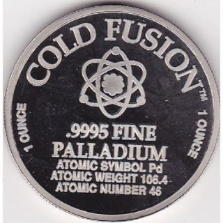 Palladium 1 Ounce Round Cold Fusion Extremely Rare photo