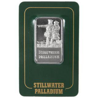 1 Troy Oz.  Stillwater Lewis & Clark Palladium Bar.  9995 Fine (in Assay) photo