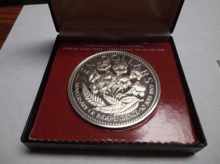 2 Oz Silver Proof Ten Dollar Coin photo