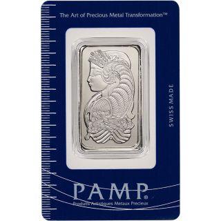 1 Oz.  Palladium Bar - Pamp Suisse - Fortuna - 999.  5 Fine In Assay photo