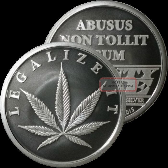 1 2 Oz Silver Coin Legalize It Cannabis Pot Silver Coin