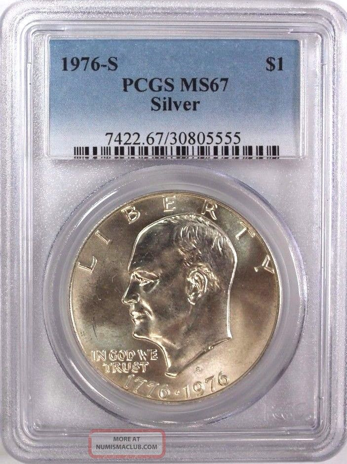 1976 S Eisenhower Ike Silver Dollar Pcgs Ms67