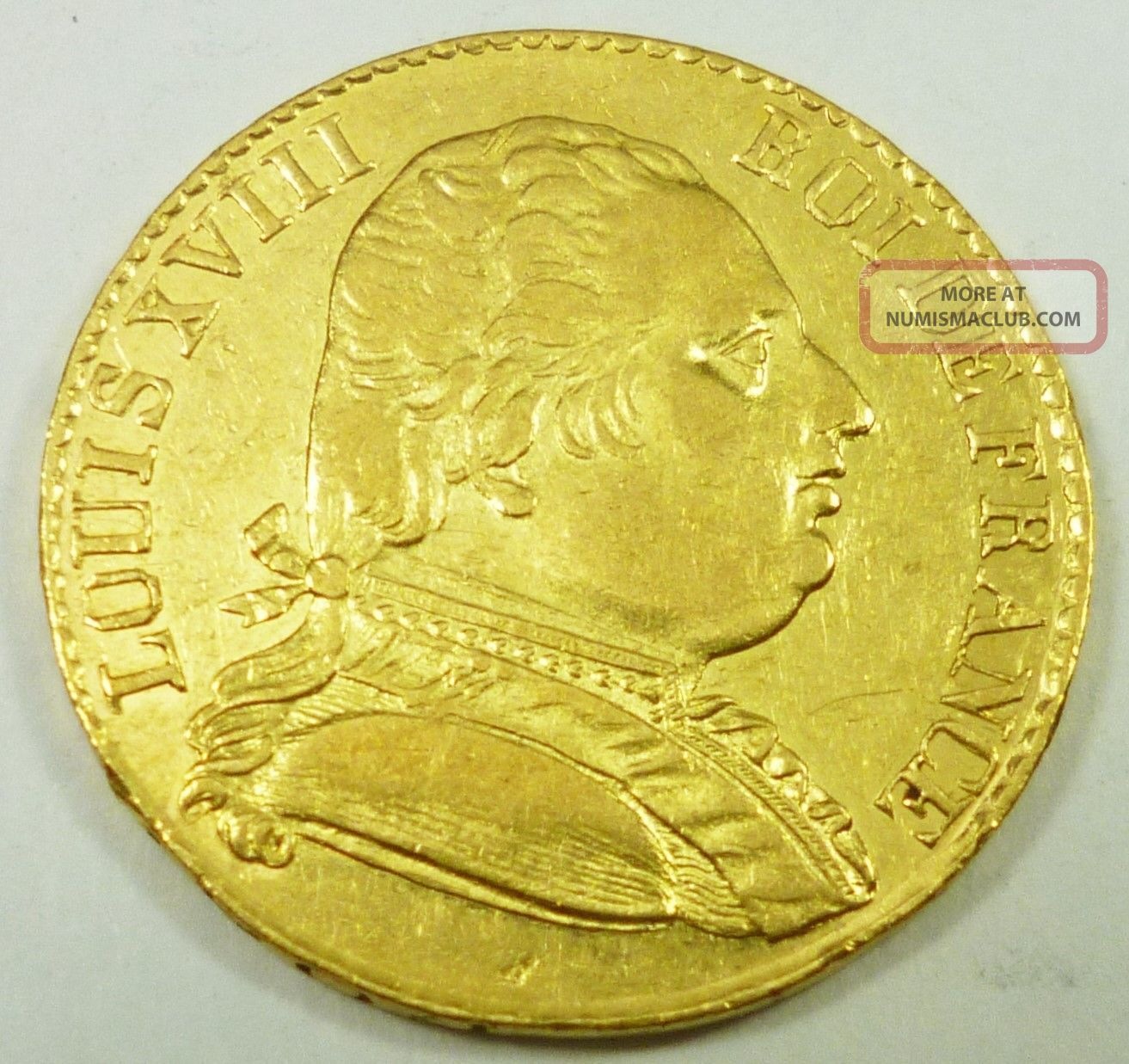 1815 - R France / French 20 Francs Louis Xviii Au About Uncirculated Europe photo