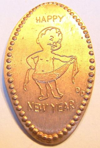 Dow - 192 : Vintage Elongated Cent: Happy Year - 1968 photo