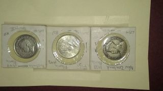 Great Britain Commonwealth South Pacific 3 Silver Florins photo