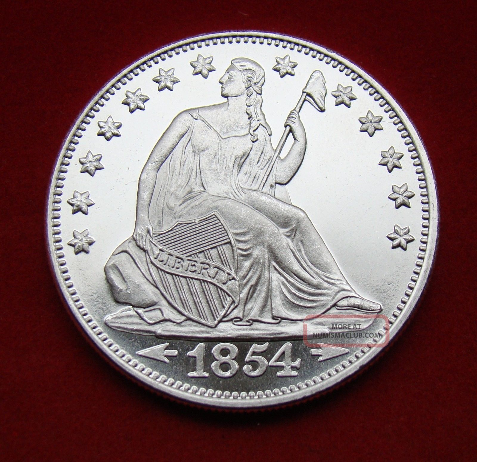 Solid Silver Round 1 Troy Oz 2016 Seated Liberty Eagle