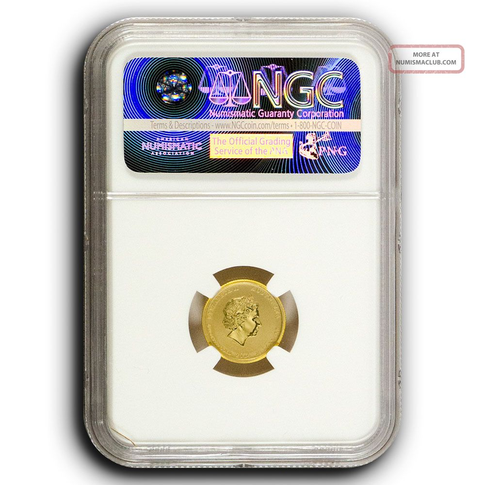 2014 P Australia 1 10th Oz Gold Coin War In Pacific Battle Of Coral Sea Ngc Ms69