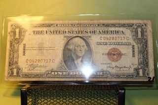 Old 1935 Hawaii $1 Silver Certificate photo