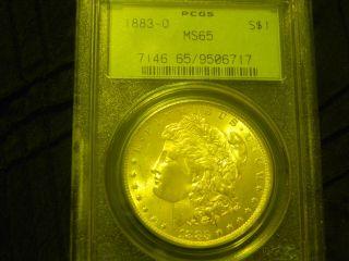 Morgan Silver Dollar 1883 O Pcgs Ms65 (rare) Silver Coin photo