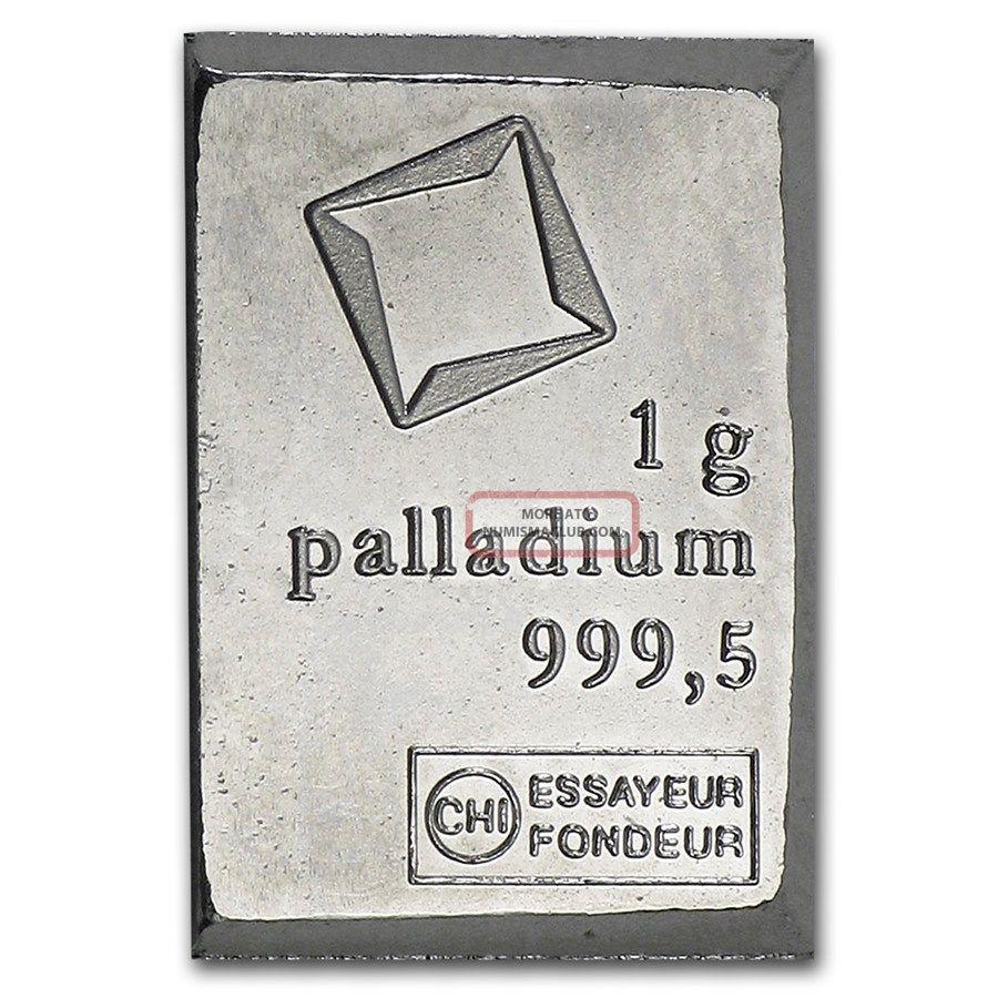 1 Gram Palladium Bar - Valcambi Suisse Bullion Palladium photo