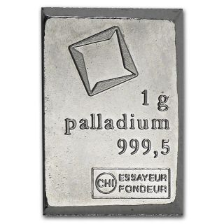 1 Gram Palladium Bar - Valcambi Suisse Bullion photo