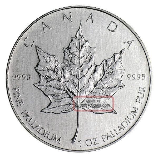 2005 $50 Palladium Canadian Maple Leaf.  9995 1 Oz.  (bu) Bullion photo