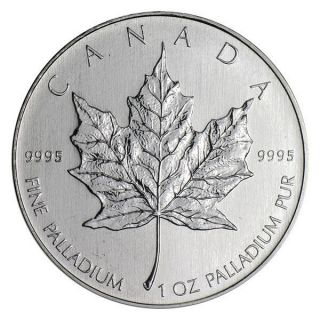 2005 $50 Palladium Canadian Maple Leaf.  9995 1 Oz.  (bu) photo