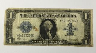1923 Large $1 Silver Certificate Blue Seal photo