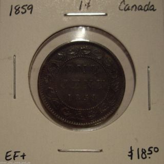 Canada Victoria 1859 Large Cent - Ef, photo