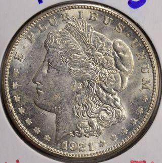 1921 - S $1 Morgan Silver Dollar Bu photo