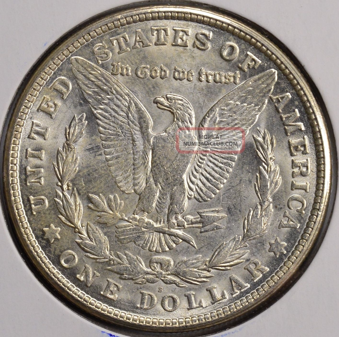 1921 S 1 Morgan Silver Dollar Bu